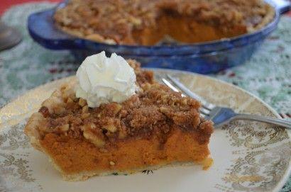 Pumpkin Pie with Walnut Struesel Topping | Tasty Kitchen: A Happy ...