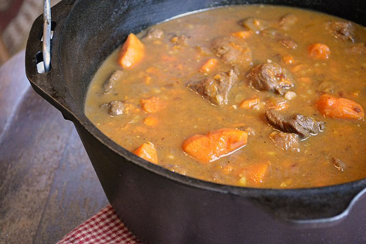 Spicy Pork and Sweet Potato Stew warms you up from the inside out. The ...