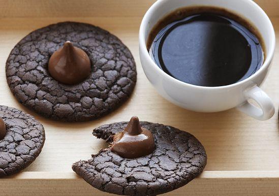 Dark Chocolate Espresso Cookies   Cake Mix Recipes   Pinterest