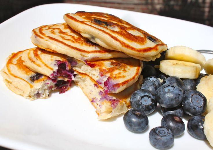 blueberry cheesecake pancakes | Protein Pancakes! | Pinterest