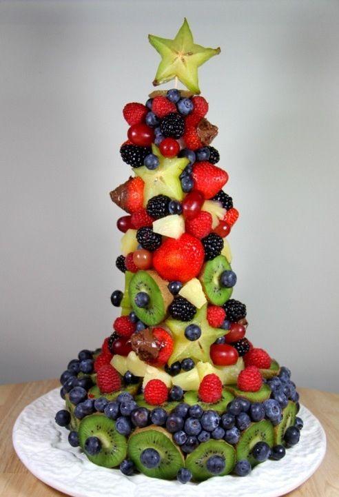 Edible fruit christmas tree kid crafts pinterest