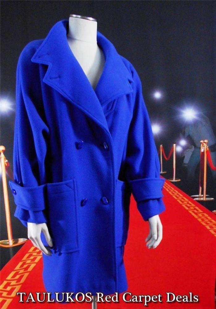Gorgeous royal blue heavy wool car coat! Women's #Coat #CYCLONE Royal
