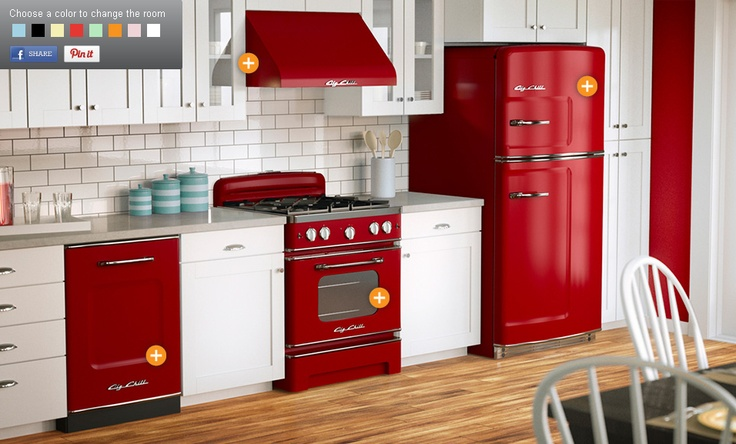 Red Kitchen appliances from Big Chill  SMEG !  Pinterest