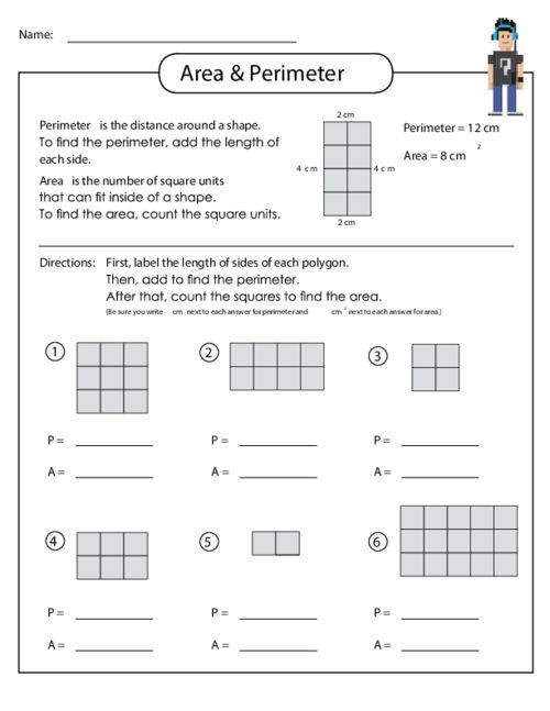 Area worksheets 6th grade free