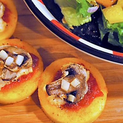 Polenta Pizzas   Yummies in my Tummies :)~   Pinterest