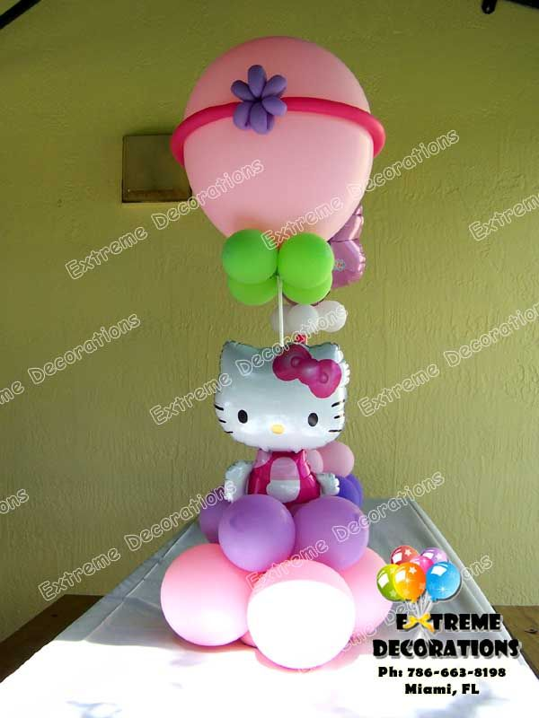Hello kitty balloon centerpiece liv s b day to do