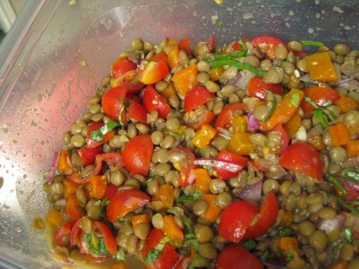 Lentil Salad with Balsamic Glaze #Vegan | Vegetarian/Vegan | Pinterest
