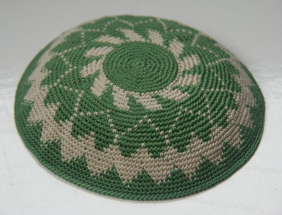 Crochet Yarmulke : Crochet Yarmulke Kippah Hand made by Shoshis by ShoshiStudio, $40.00