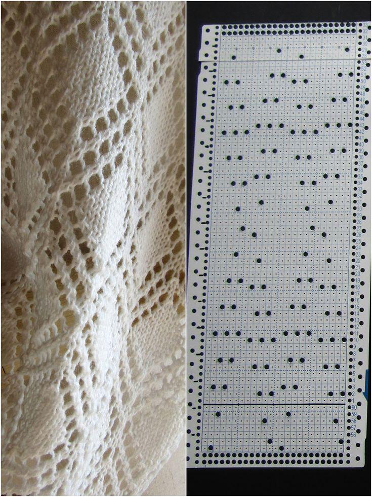 Вязание по перфокарте на бразере 47