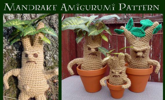 Amigurumi Mandrake : Mandrake and Mini-Mandrake Amigurumi Pattern