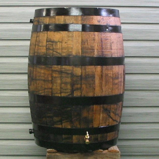 Upcycle 54 Gal Oak Wooden Rain Barrel Craftiness