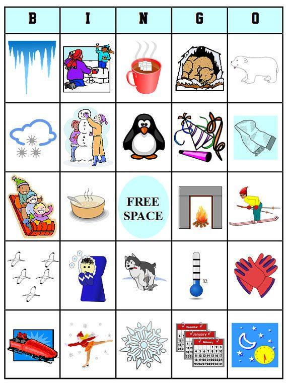 Printable Winter Bingo 54 Bingo Cards Download this by bigdandme, $3 ...