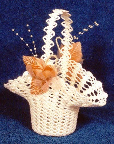 Free Crochet Flower Basket Pattern : Bridal Shell Flower Basket Crochet Thread Pinterest