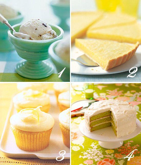 Honey Orange Pistachio Ice Cream, Classic Lemon Tart, Lemon Cupcakes ...