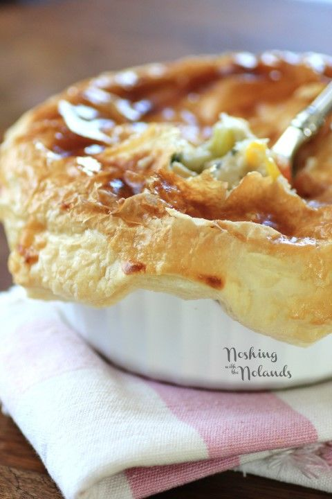 Individual Puff Pastry Chicken Pot Pies | Recipe