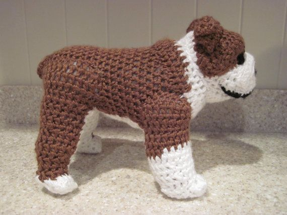 Free Crochet Patterns Of Stuffed Animals : Bulldog Stuffed Animal Crochet Pattern - Digital Download