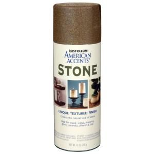 Countertop Spray Paint Home Depot : Rust-Oleum American Accents Paint. 12 oz. Stone Pebble Textured Finis ...