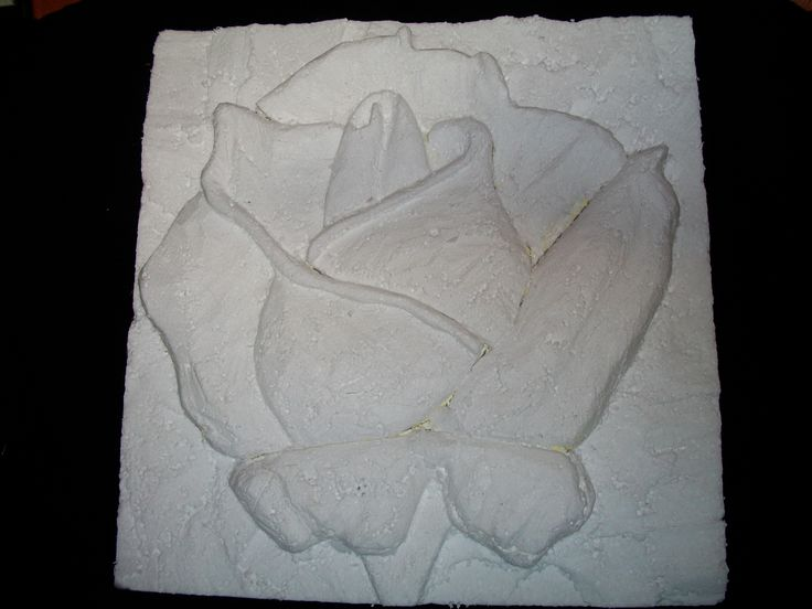 Inspiration styrofoam rose carving foam