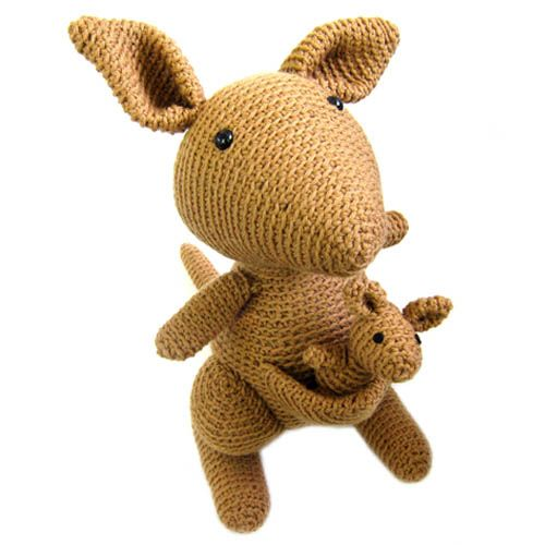 Crocheting Stuffed Animals : kangaroo Stuffed Animal Crochet Pattern Crochet Mania Pinterest