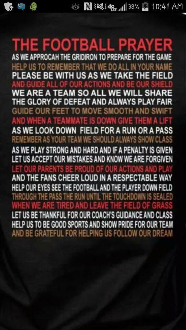 The football Prayer | Football | Pinterest