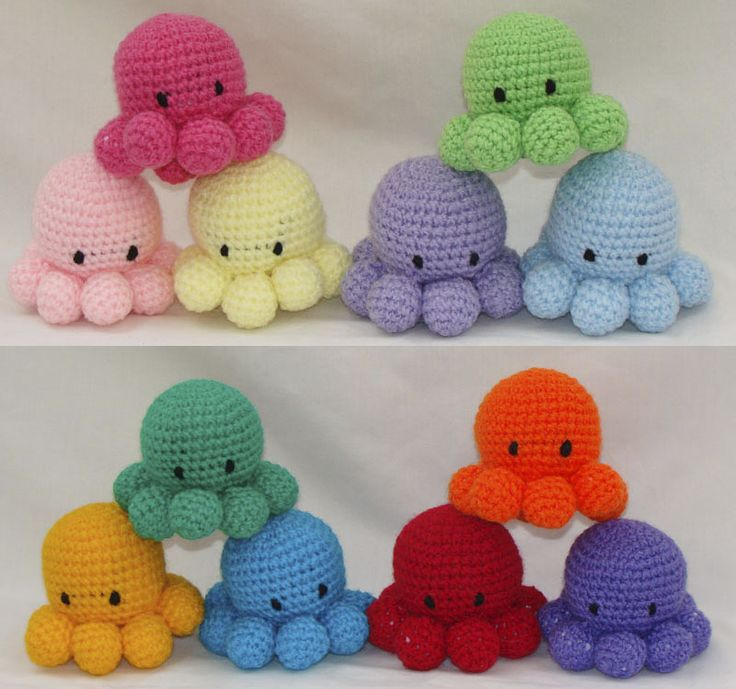 Pulpitos kawaii amigurumi Crochet Pinterest
