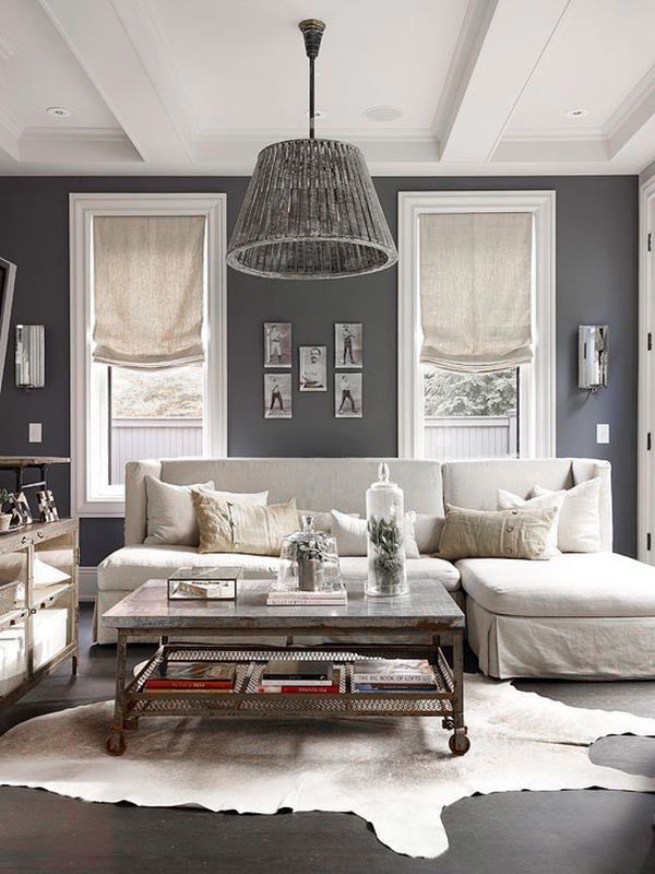 ♅ Dove Gray Home Decor ♅   gray and white living room