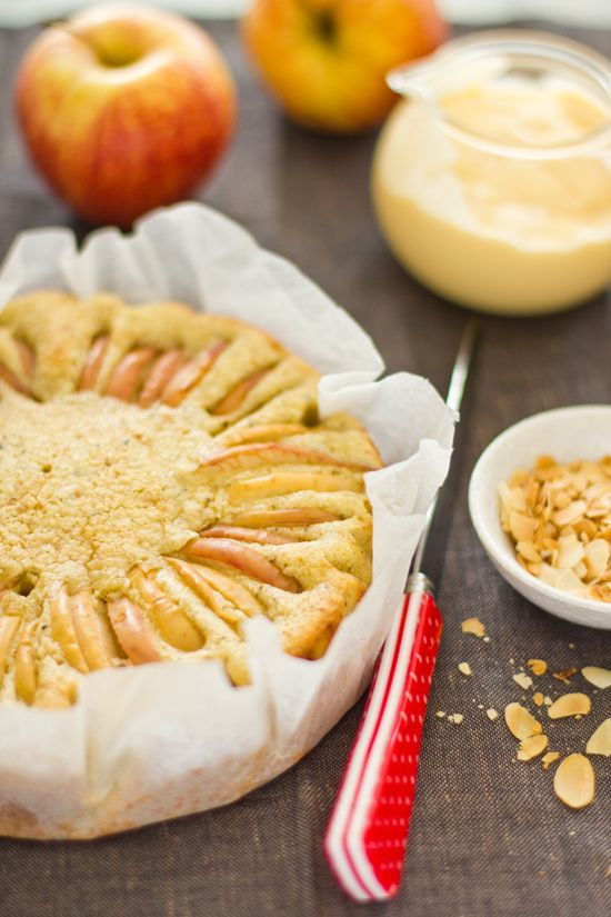 Apple Cardamom Cake with Roasted Almonds | Let's Go Nutty | Pinterest