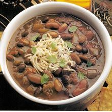 Next time you're looking for a zesty beef-and-red bean chili recipe ...