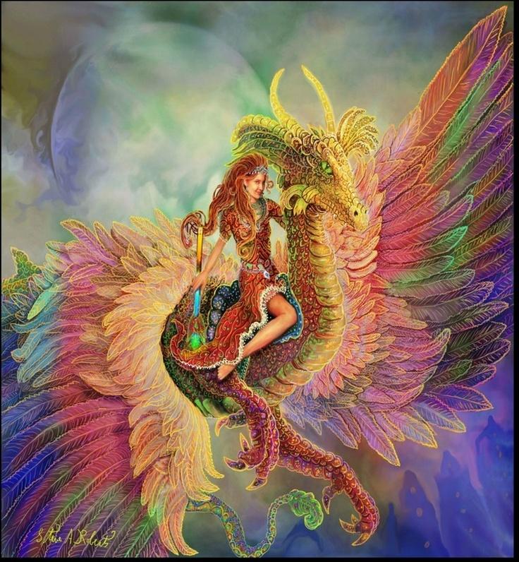 rainbow dragon fantastic dragons pinterest