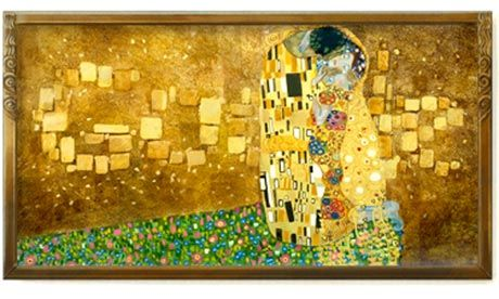Google Doodle ~ 14/07/12; 150th birthday of Gustav Klimt, the Austrian symbolist painter whose work was a cause of controversy for its celebration of sexuality, but which is now counted among the most expensive artworks in the world today.    Born in 1862 in Baumgarten, near Vienna, Klimt was the son of a gold engraver and later became know for the gold leaf which adorned his highly decorated, colourful works produced after he trained at Vienna's School of Applied Art.