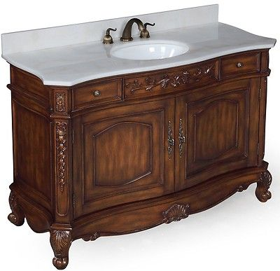 Clearance Sale 48 White Marble Countertop Antique Bathroom Vanity