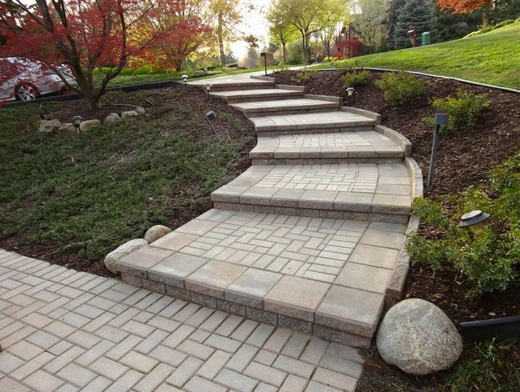 Beautiful Brick Paver Walkway Artsy Outdoors Pinterest
