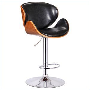 Boraam Osa Adjustable Swivel Stool in Black