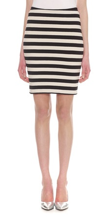 Whistles - Stripe Jersey Tube Skirt