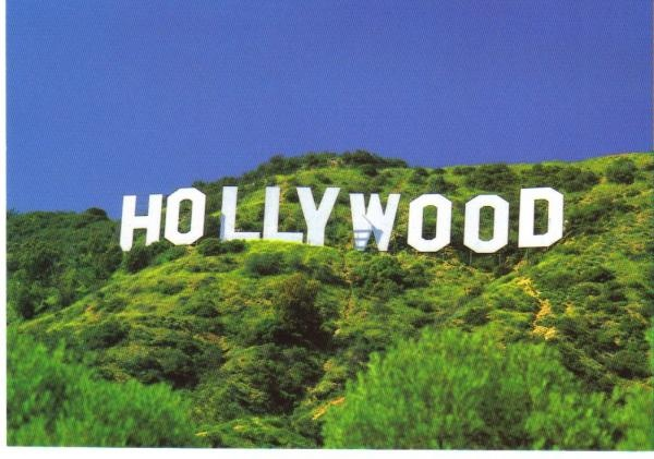 Hollywood sign los angeles postcards pinterest