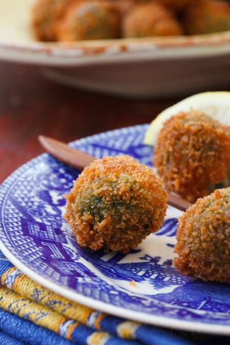Fried Stuffed Olives | Recipes to Try | Pinterest