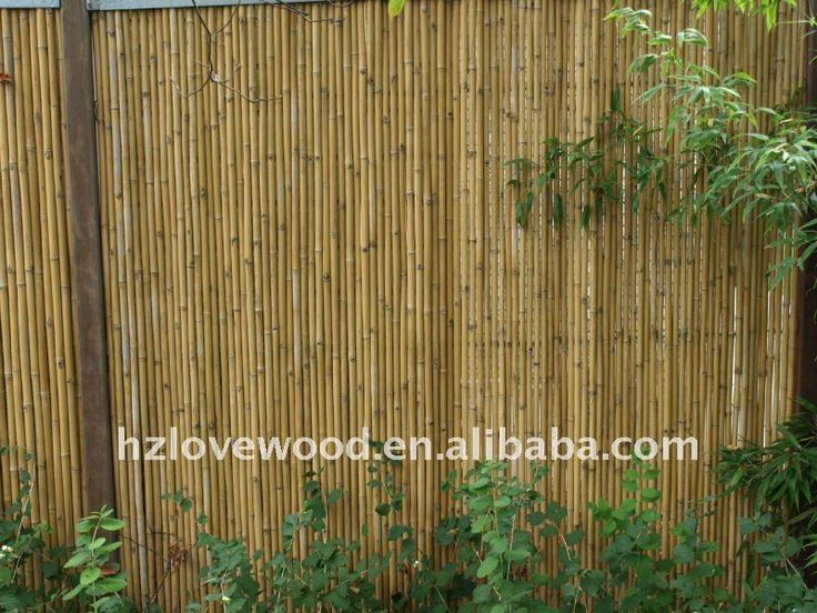 Bamboo garden fencing panels urban living back yard for Outdoor bamboo screen panels