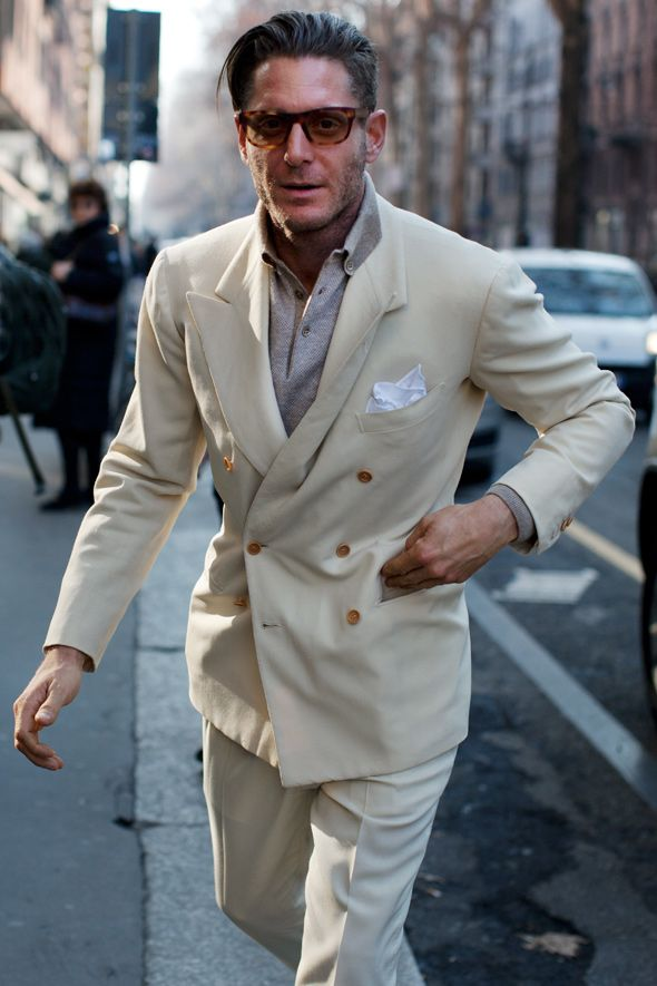 Peaked lapels and layering