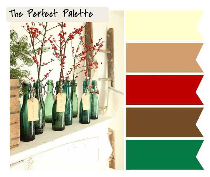 Nature Inspired Holiday Color Palettes