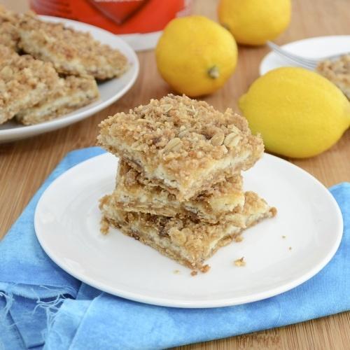Lemon Cream Bars....tart, tangy and perfect for Easter dessert!