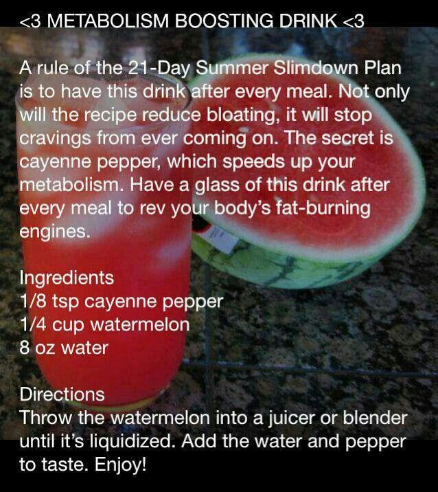 Metabolism boosting watermelon drink mix