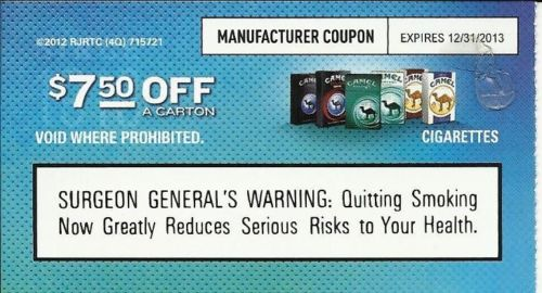 Sign up for cigarette coupons