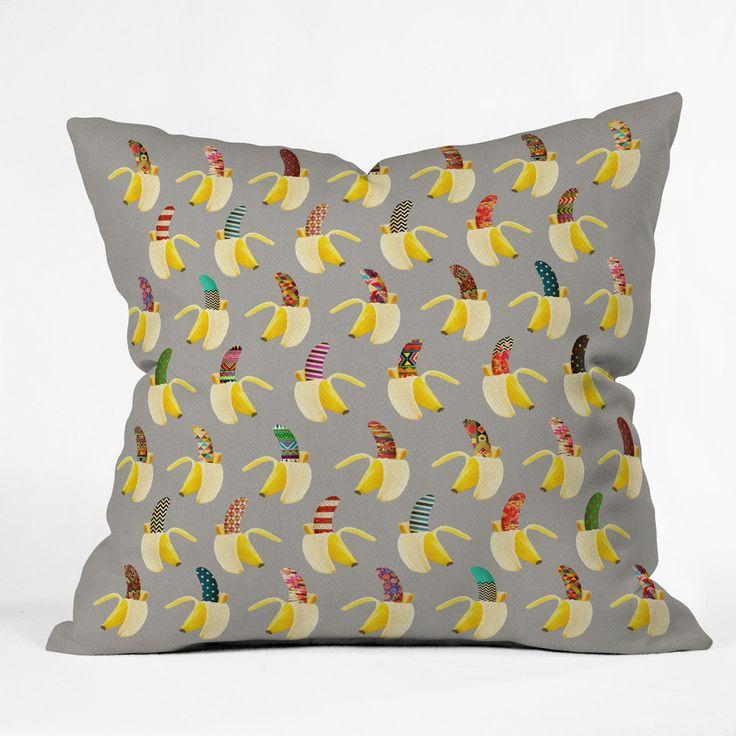 Bianca green anna banana throw pillow