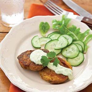 Turnip-Sweet Potato Patties | Dairy free - entrees | Pinterest