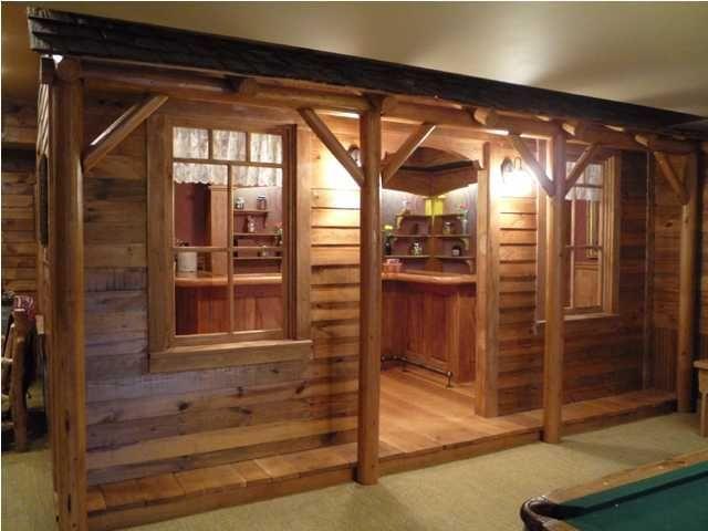 Saloon Style Bar In The Basement Home Bar Ideas
