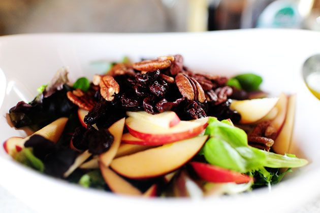 Apple, Pecan, and Blue Cheese Salad with Dried Cherries | Recipe