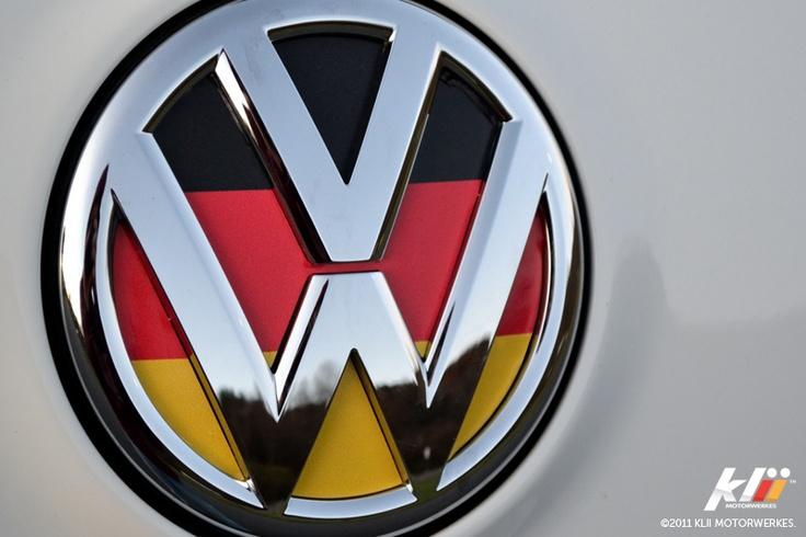 German flag Volkswagen logo!! Volkswagen VW Logo
