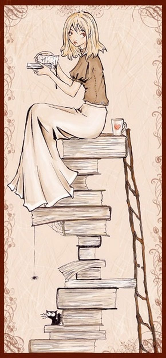 Books and tea, that pretty much sums it up!