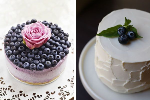 blueberry wedding cakes.