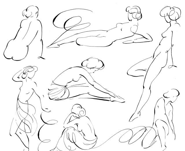 Line Drawing Woman Body : Beautiful line work yummy design pinterest